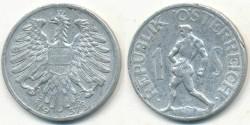 World Coins - AUSTRIA - 1957, 1 Schilling - KM# 2871