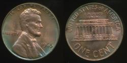 World Coins - United States, 1965 One Cent, 1c, Lincoln Memorial - Uncirculated