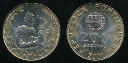 World Coins - Portugal, Republic, 2001 200 Escudos - Uncirculated