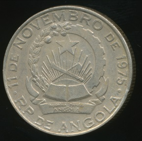 World Coins - Angola, Peoples Republic, 1977 5 Kwanzas - Extra Fine