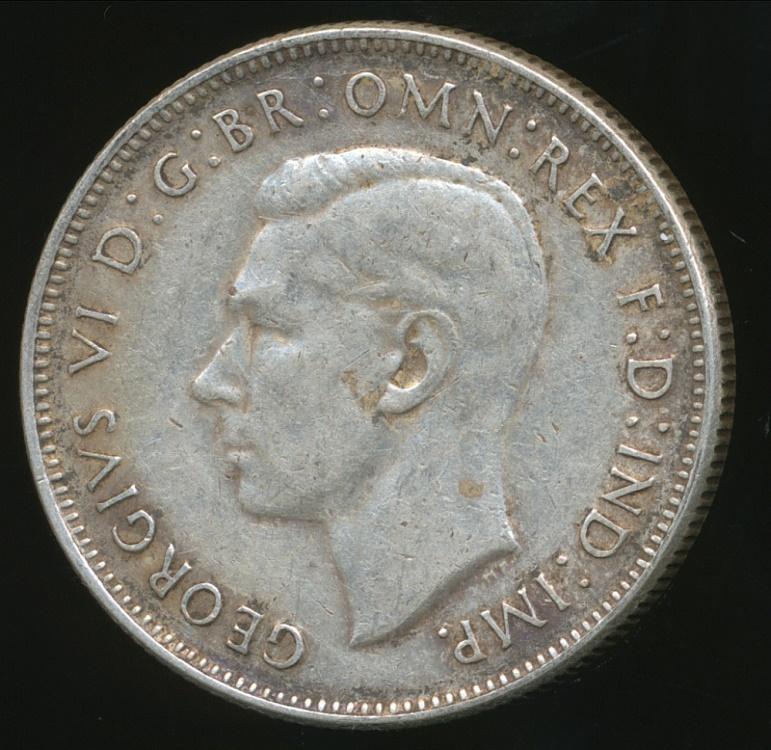 Australia 1943 M Florin 2 George Vi Silver Fine