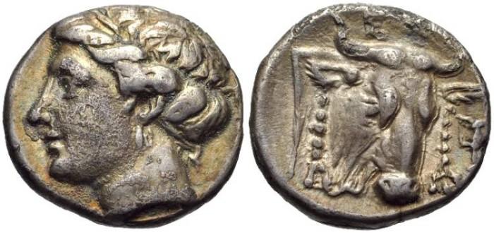 Ancient Coins - EUBOIA, Euboian League, AR Drachm, 304-290 BC, (16mm, 3.41 g, 12h) - Wallace 74