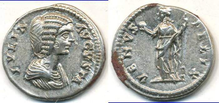 Ancient Coins - JULIA DOMNA. AR Denarius, AD 193-217, Laodicea mint, (20mm, 3.57 gm) - RIC 646
