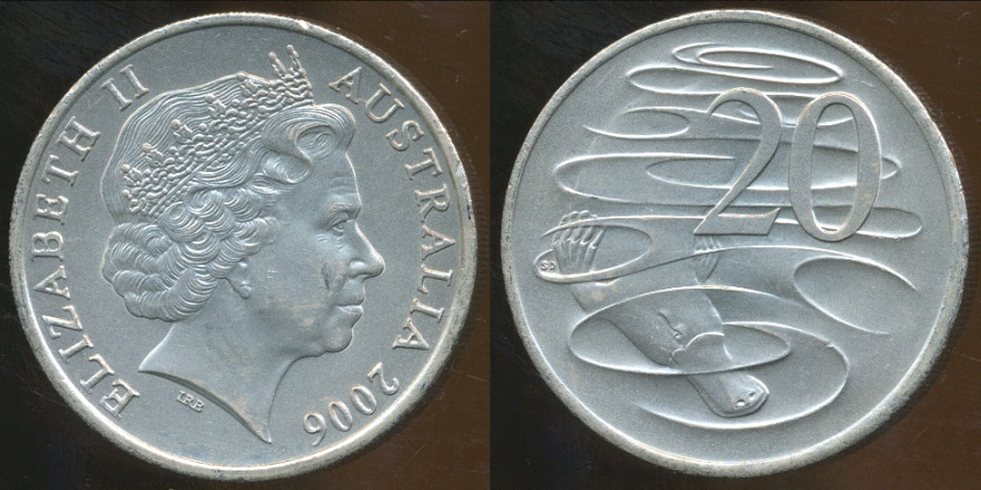 World Coins - Australia, 2006 20 Cents, Elizabeth II - Uncirculated