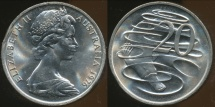 World Coins - Australia, 1976 Canberra 20 Cent, Elizabeth II - Uncirculated