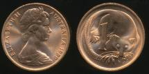 World Coins - Australia, 1980 One Cent, 1c, Elizabeth II - Uncirculated