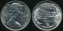 World Coins - Australia, 1980 Canberra 20 Cent, Elizabeth II - Choice Uncirculated