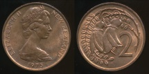 New Zealand, 1975 Two Cents, 2c, Elizabeth II - Uncirculated
