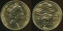 World Coins - Australia, 1993 Canberra One Dollar (Landcare) Elizabeth II - Choice Uncirculated