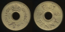 Fiji, Republic British Administration, 1943(s) Penny, 1d, George VI - Fine