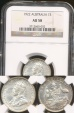 World Coins - Australia, 1922(m) Shilling, George V (Silver) - NGC AU58