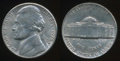 World Coins - United States, 1975-D 5 Cents, Jefferson Nickel - almost Uncirculated
