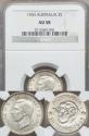 World Coins - Australia, 1943(m) Shilling, George VI (Silver) - NGC AU58