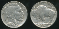 World Coins - United States, 1937 5 Cents, Buffalo Nickel - Uncirculated