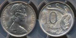 World Coins - Australia, 1975 Ten Cents, 10c, Elizabeth II - PCGS MS66 (Gem Unc)