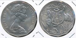 World Coins - Australia, 1969 Fifty Cents, 50c, Elizabeth II - Uncirculated