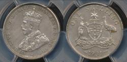 World Coins - Australia, 1931(m) One Shilling, 1/-, Edward VII (Silver) - PCGS AU55 (aUnc)