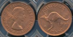 World Coins - Australia, 1964(m) One Penny, 1d, Elizabeth II - PCGS MS65RB (Gem-Unc)