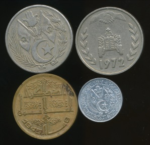 World Coins - Algeria, Republic, Group of 4 Coins (1964-1972) - Very Fine-almost Uncirculated