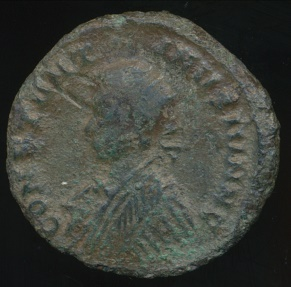 Ancient Coins - CONSTANTINE II, AE-Follis, AD 317-340 (19mm, 2.08 g) London mint, Struck AD 320-321, RIC VII 190