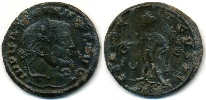 Ancient Coins - MAXIMINUS II, AE-Follis, AD 309-313, Siscia mint, Struck AD 310-311, (26mm, 6.64 gm)- RIC VI, 207