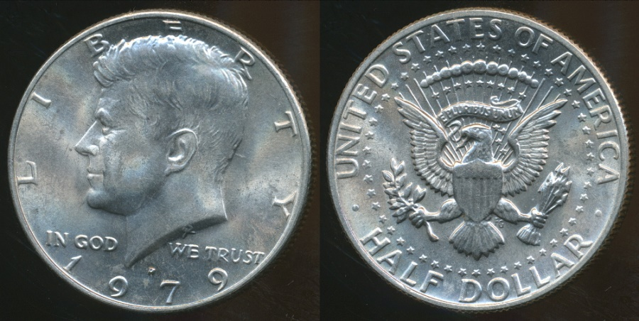 World Coins - United States, 1979-D Half Dollar, Kennedy - Uncirculated