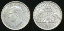 World Coins - Australia, 1938 Florin, 2/-, George VI (Silver) - Uncirculated