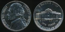 World Coins - United States, 1996-D 5 Cents, Jefferson Nickel - Uncirculated