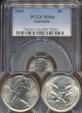 World Coins - Australia, 1967 5 Cents, Elizabeth II - PCGS MS66