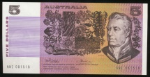 World Coins - Australia, 1974 Five Dollars, $5, Phillips/Wheeler, R205 - almost Uncirculated