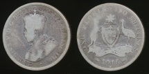 World Coins - Australia, 1916(m) Florin, 2/-, George V (Silver) - Well Circulated
