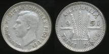 World Coins - Australia, 1951(m) Threepence, 3d, George VI (Silver) - Fine/Very Fine