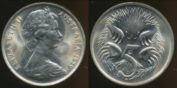 World Coins - Australia, 1979 Canberra 5 Cent, Elizabeth II - Choice Uncirculated