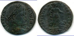 Ancient Coins - CONSTANTINE I, AE-Follis, AD 306-337, 17mm, 3.04 g) Trier mint, Struck 323-324 AD - RIC 435