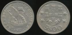 World Coins - Portugal, Republic, 1966 5 Escudos - Uncirculated
