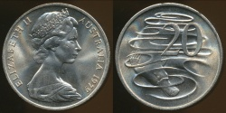 World Coins - Australia, 1979 Canberra 20 Cent, Elizabeth II - Choice Uncirculated