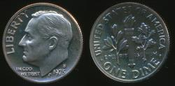 World Coins - United States, 1975-S Dime, Roosevelt - Proof