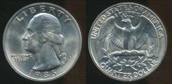 World Coins - United States, 1985-P Quarter, 1/4 Dollar, Washington - Uncirculated
