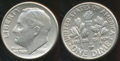 World Coins - United States, 1981-P Dime, Roosevelt - Choice Uncirculated