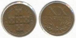 World Coins - PORTUGAL - 1953, 20 Centavos, KM# 584