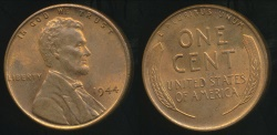World Coins - United States, 1944 One Cent, Lincoln Wheat - Uncirculated