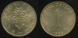 World Coins - Austria, Republic, 1996 1 Schilling - Uncirculated