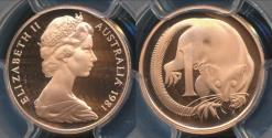 World Coins - Australia, 1981 One Cent, 1c, Elizabeth II - PCGS PR69DCAM (Proof)
