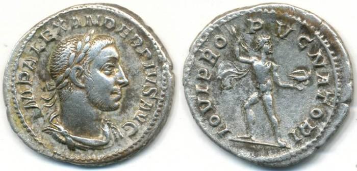 Ancient Coins - SEVERUS ALEXANDER. AR Denarius, AD 222-235, Rome mint, (21mm, 3.17 gm) - RIC 238