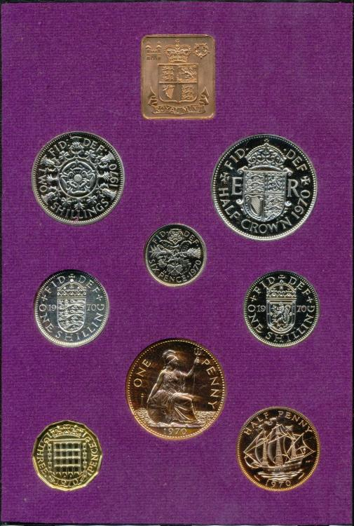 Royal Mint 1970 Great Britain /& Northern Ireland Proof Coin Set