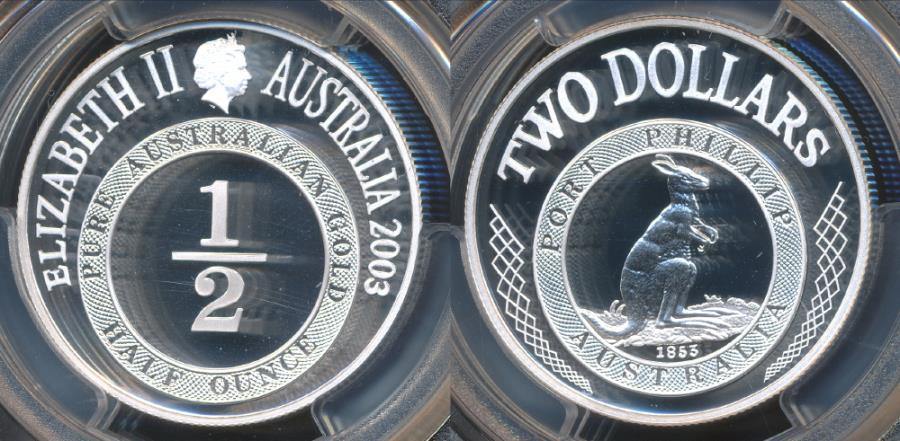 World Coins - Australia, 2003 Two Dollars, $2, Port Phillip (Silver) - PCGS PR70DCAM (Proof)