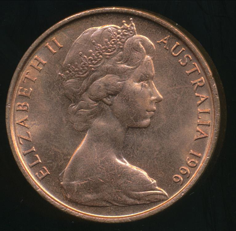 elizabeth ii australia coin 1966