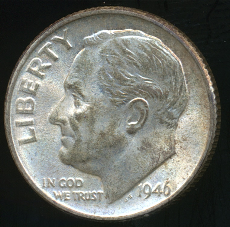 United States 1946 D Dime Roosevelt Silver Uncirculated