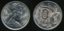 World Coins - Australia, 1973 Ten Cents, 10c, Elizabeth II - Choice Uncirculated