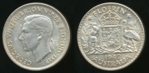 World Coins - Australia, 1942(s) Florin, 2/-, George VI (Silver) - almost Uncirculated